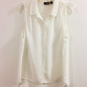 a.n.a Sheer High/Low Top
